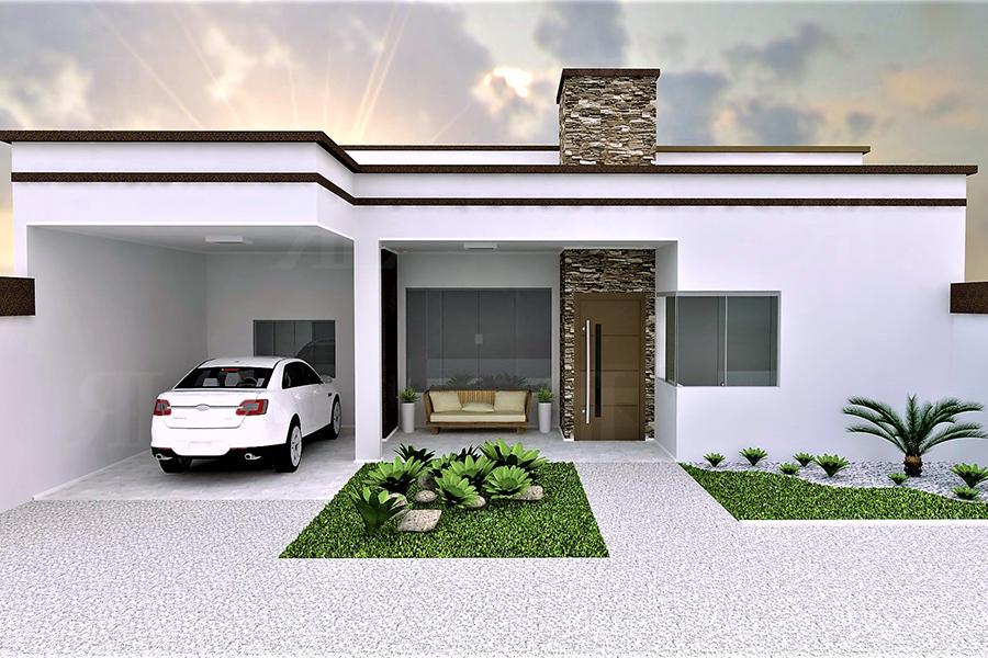 P049 casa t rrea moderna 3q 143 14 m r l engenharia for Modelo de fachadas de viviendas