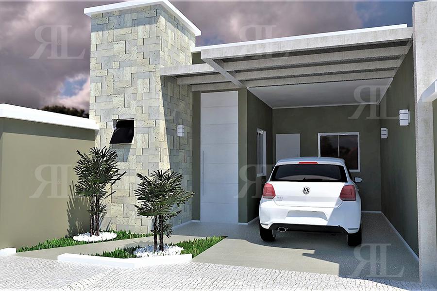 P054 casa t rrea popular 2q 65 33 m r l engenharia for Ideas para fachadas de casas pequenas